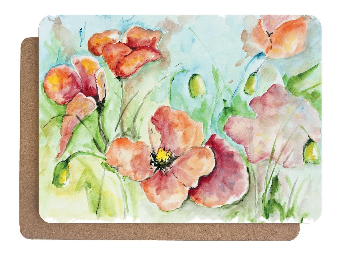 Фото - Подставка под горячее Аленький цветочек Набор 380х280 - 2 шт, 0601, Дерево, Пробка подставки и кронштейны