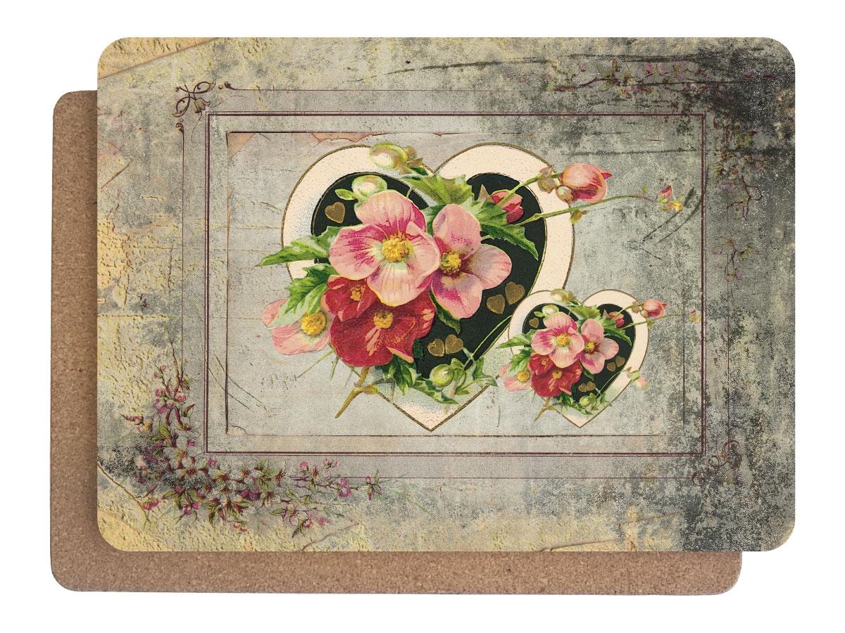 Фото - Подставка под горячее Аленький цветочек Набор 380х280 - 2 шт, 1501, Дерево, Пробка подставки и кронштейны