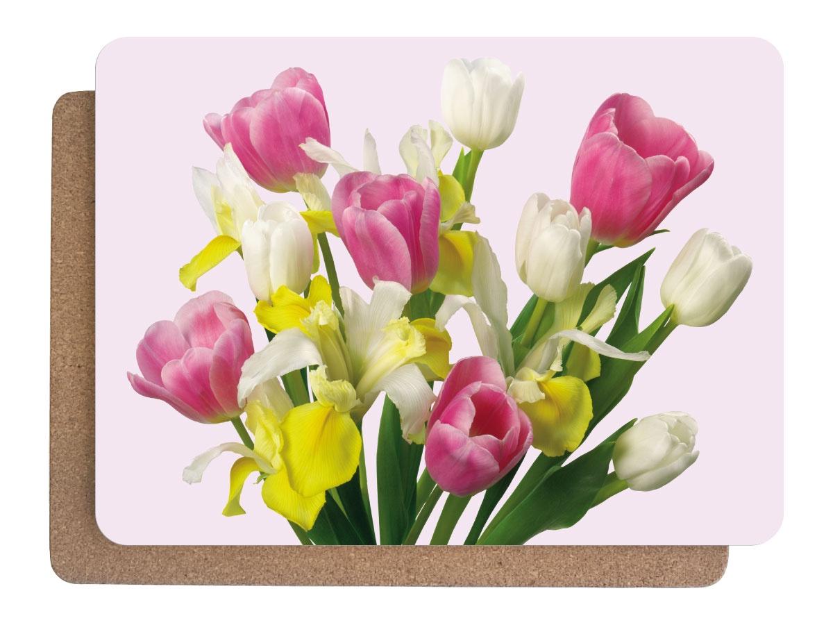 Фото - Подставка под горячее Аленький цветочек Набор 380х280 - 2 шт, 1601, Дерево, Пробка подставки и кронштейны