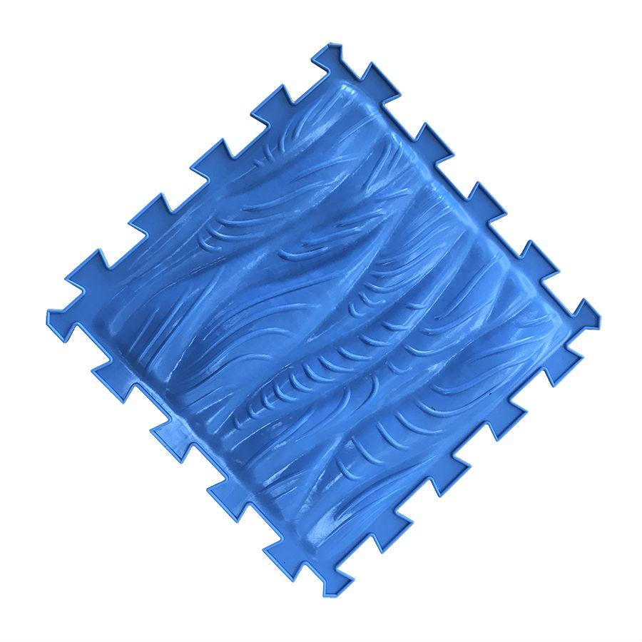 массажный коврик пазл тропа здоровья орто пазл Коврик-пазл Орто Пазл Морская волна, мм(мв) голубой