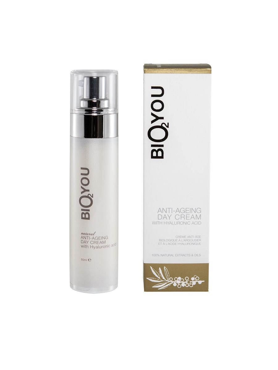 Крем для ухода за кожей BIO2YOU Натуральный омолаживающий дневной с гиалуроновой кислотой, 118