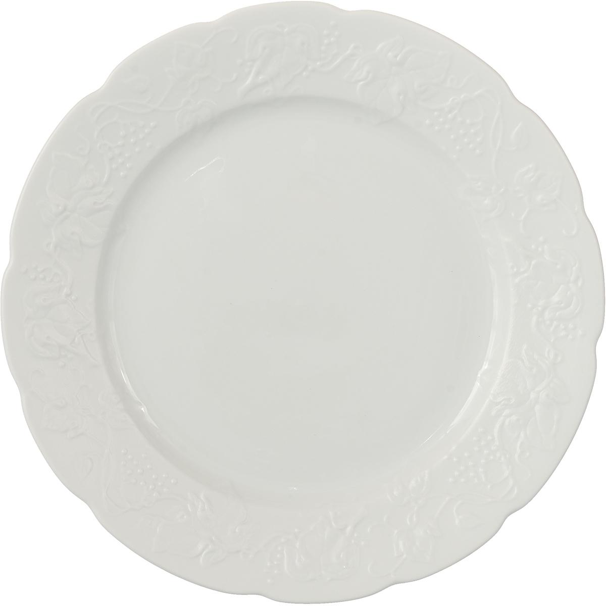 Тарелка La Rose des Sables Blanc, 3100126, белый, диаметр 26 см