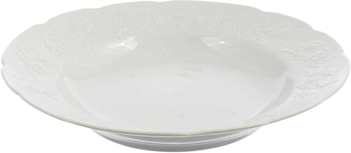 Тарелка La Rose des Sables Blanc, 3100222, белый, диаметр 22 см блюдо la rose des sables blanc 3101824 белый диаметр 24