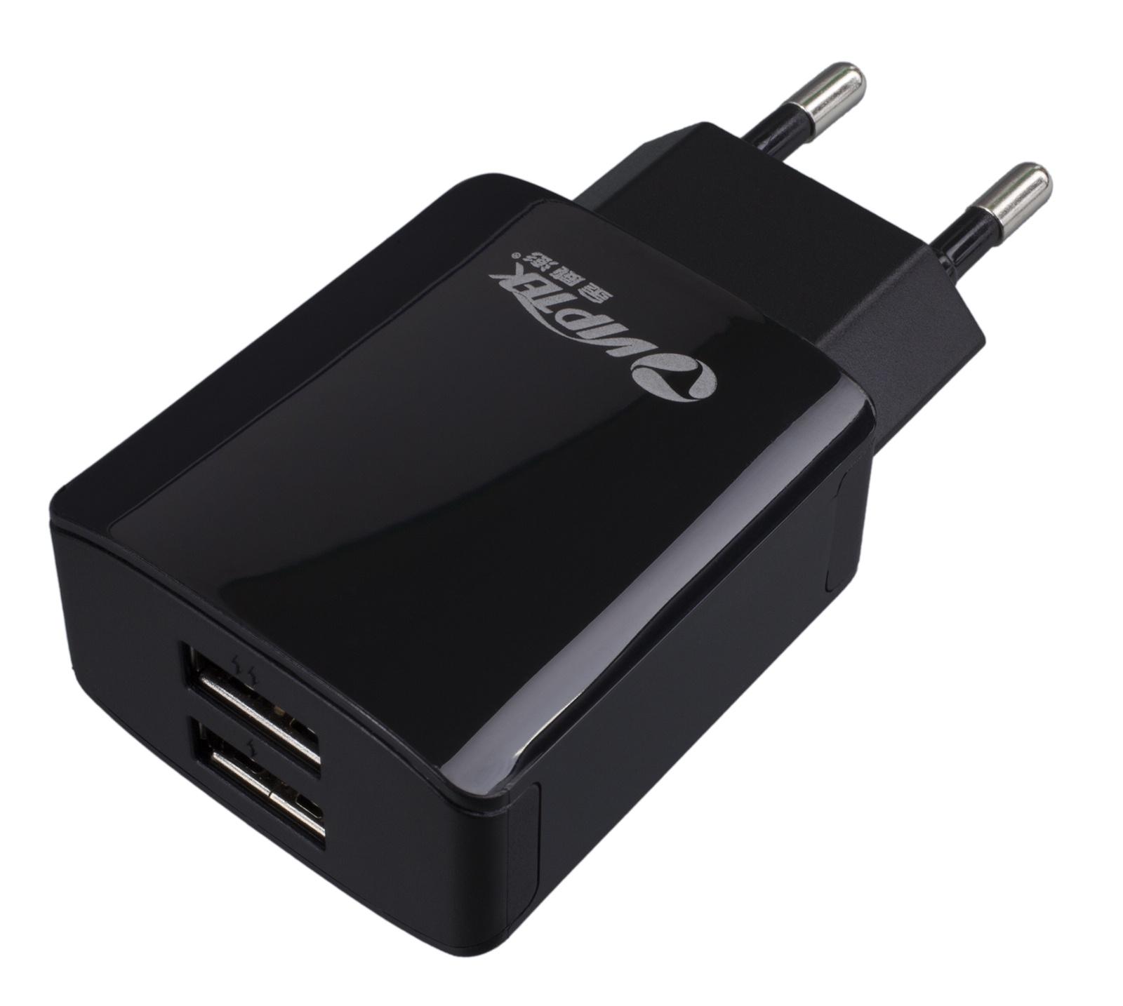 Зарядное устройство Viptek 2хUSB порта 2.1A, черный