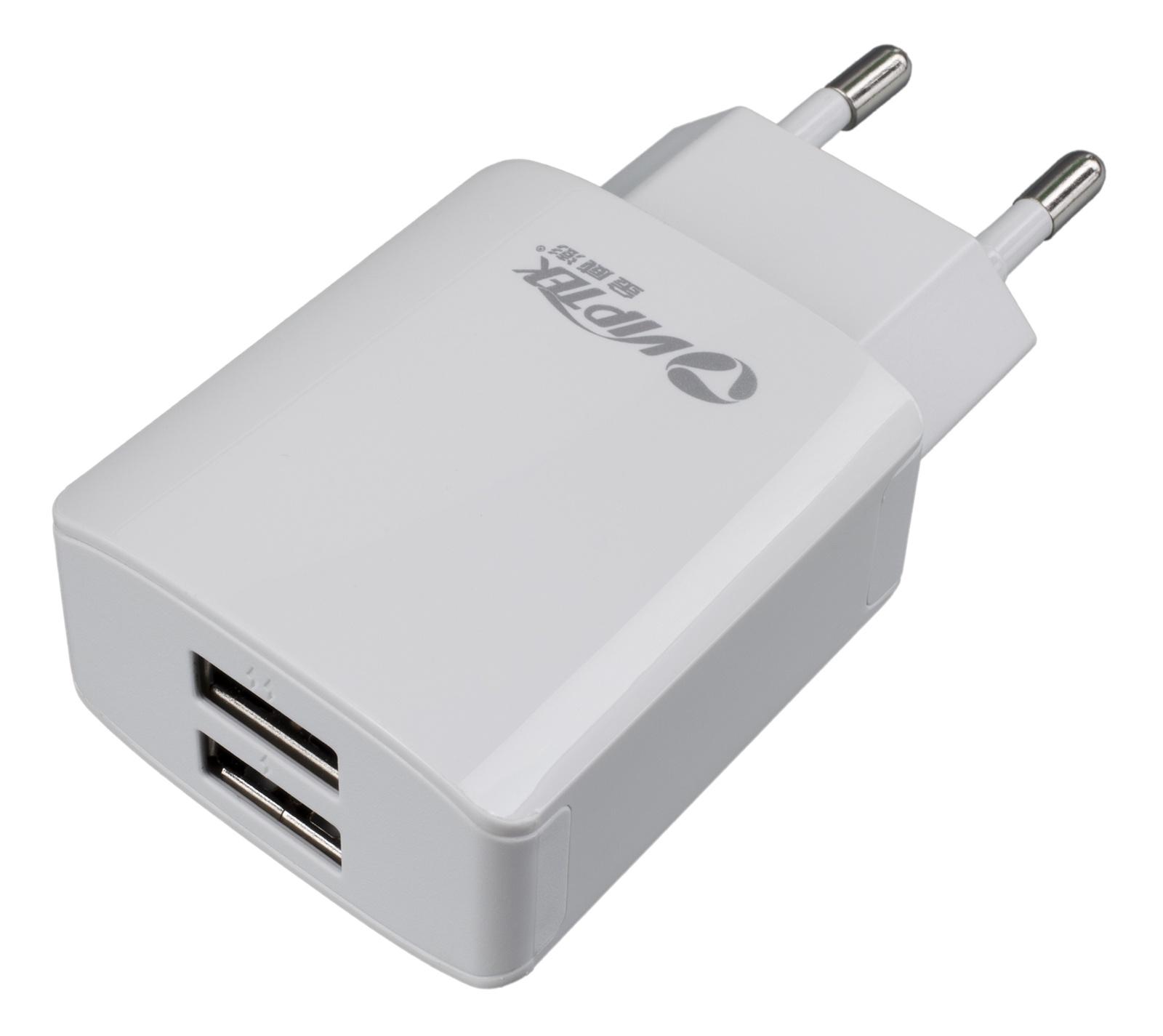 Зарядное устройство Viptek 2хUSB порта 2.1A, белый автомобильное зарядное устройство viptek 2хusb порта 2 4a белый