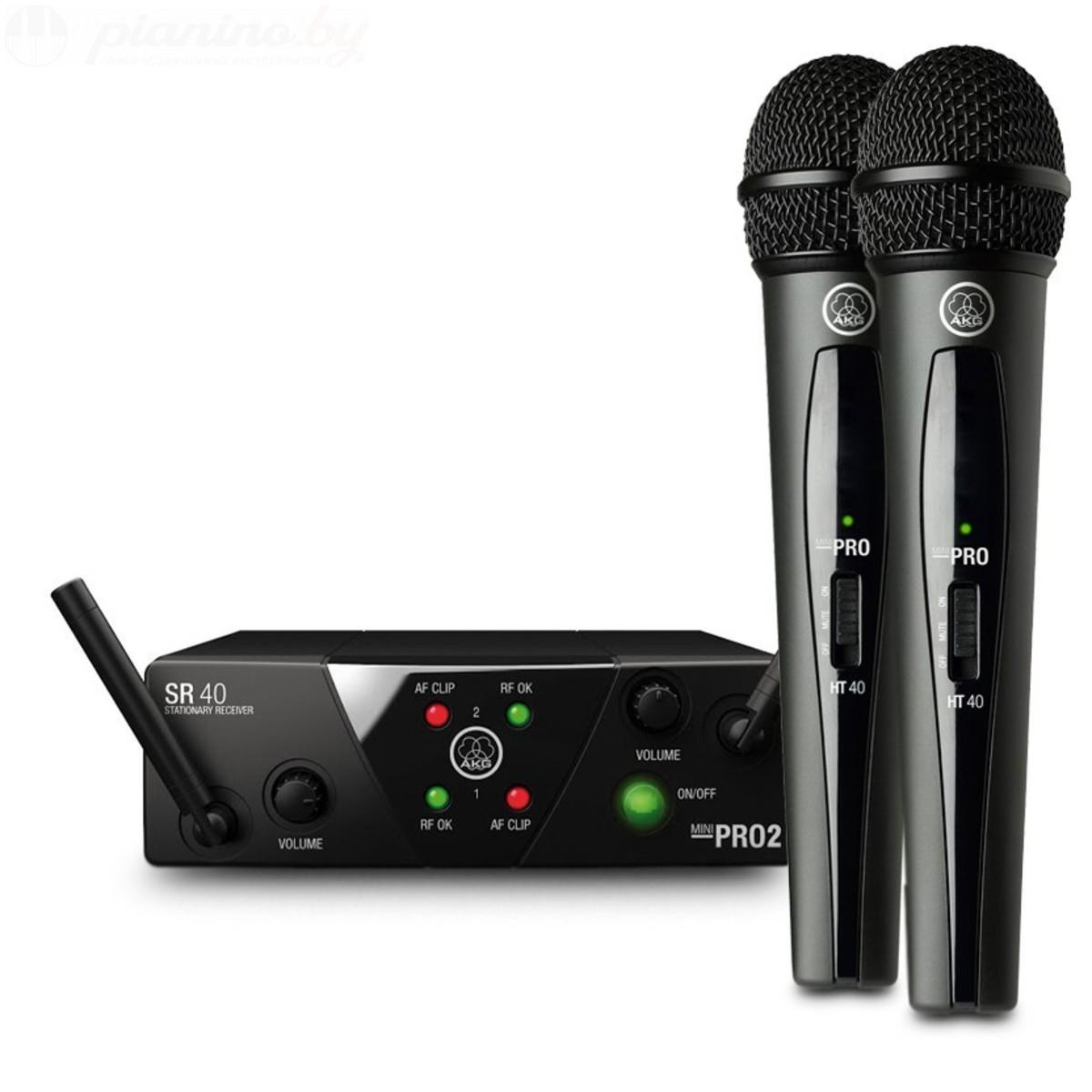 Микрофон AKG WMS40 MINI2 VOCAL SET, WMS40Mini2VocalSetUS25BD, черный