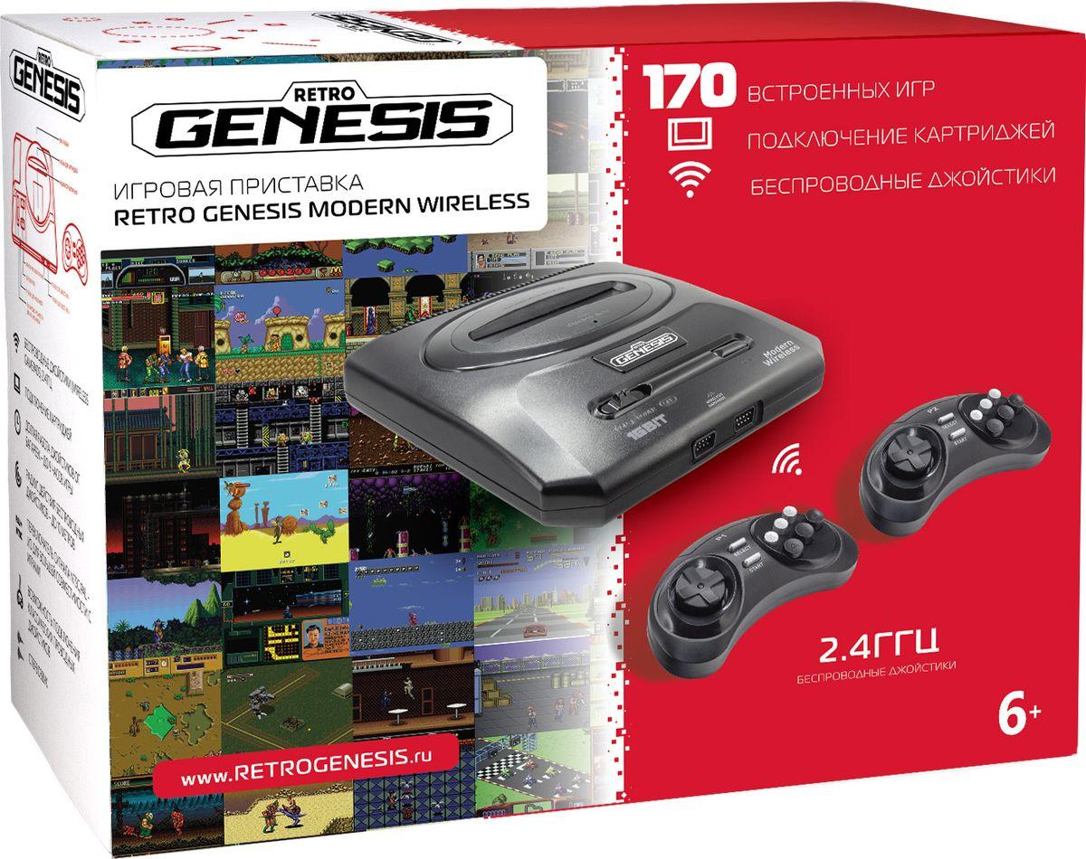 Игровая приставка Sega Retro Genesis Modern Wireless + 170 игр + 2 беспроводных джойстика игры для игровой приставки denn