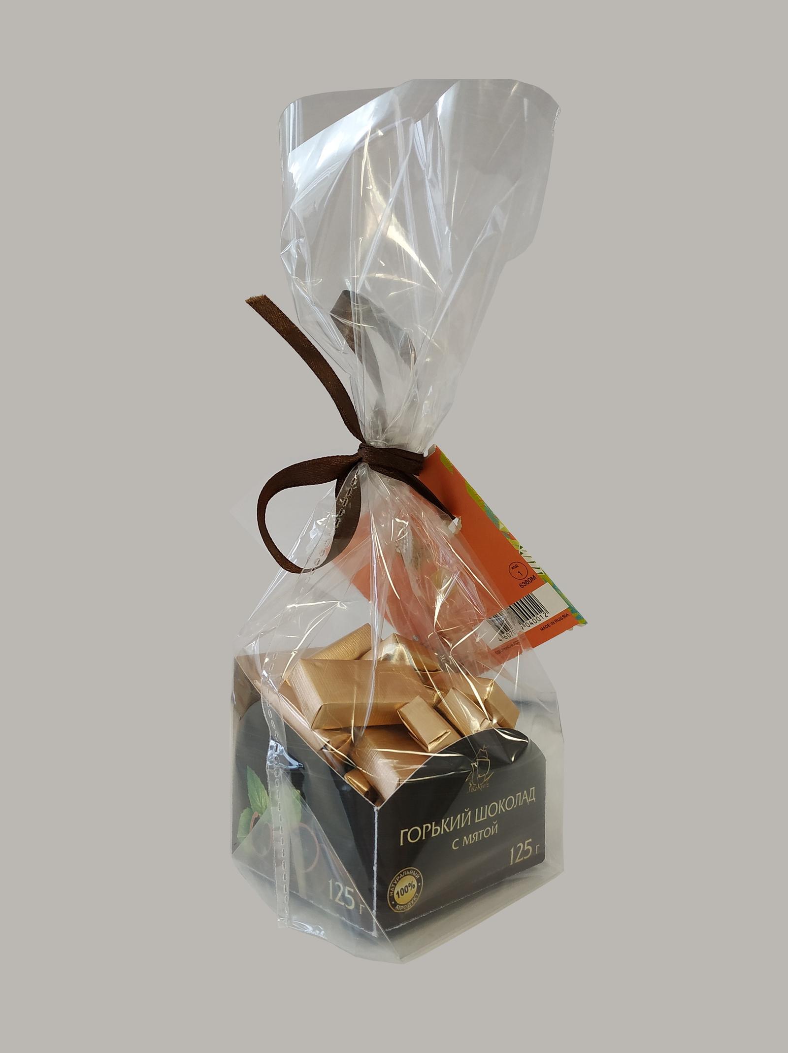 125г Шоколад фигурный Горький с мятой