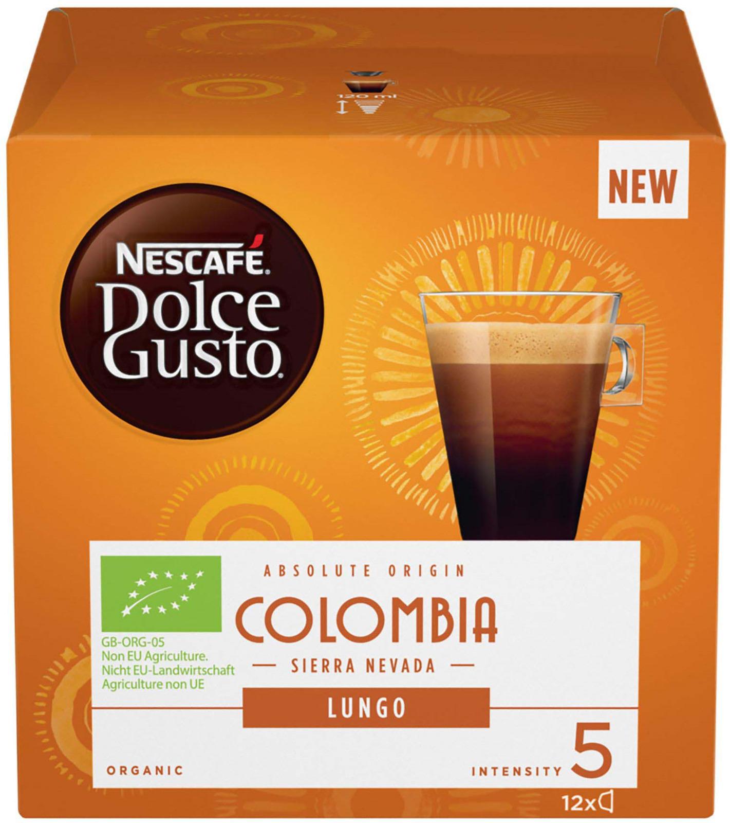 Nescafe Dolce Gusto Лунго Колумбия кофе в капсулах, 12 шт кофемашина капсульная krups kp 1208 10 mini me nescafe dolce gusto