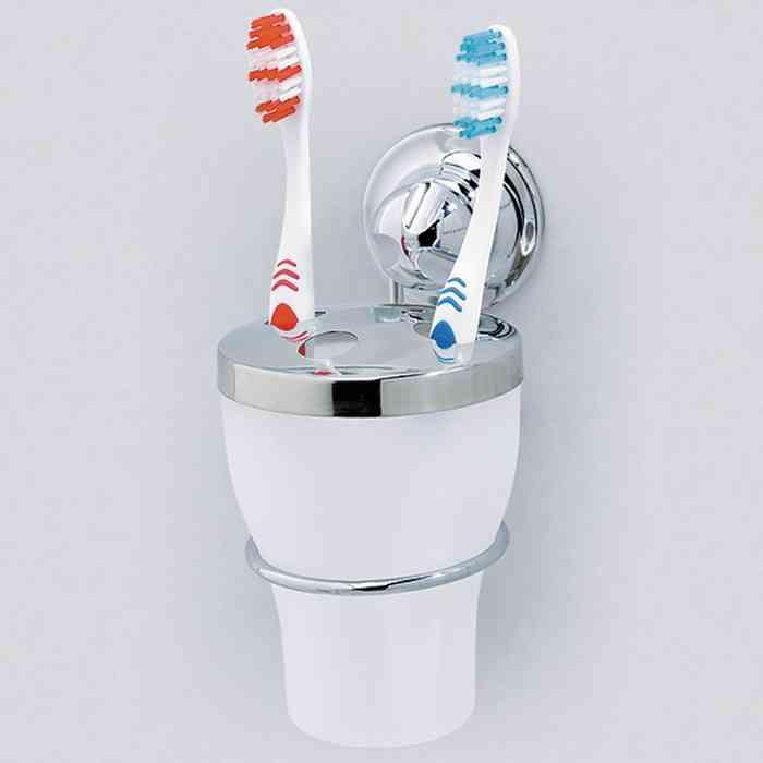 цена на Держатель для зубных щеток EverLoc Держатель, белый, серебристый