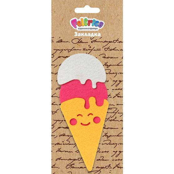 Закладка Feltrica Мороженое желтое