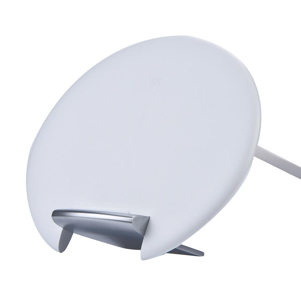 Фото - Беспроводное зарядное устройство Red Line WS-101, УТ000016850, белый беспроводное зарядное устройство red line ws 101 ут000016851