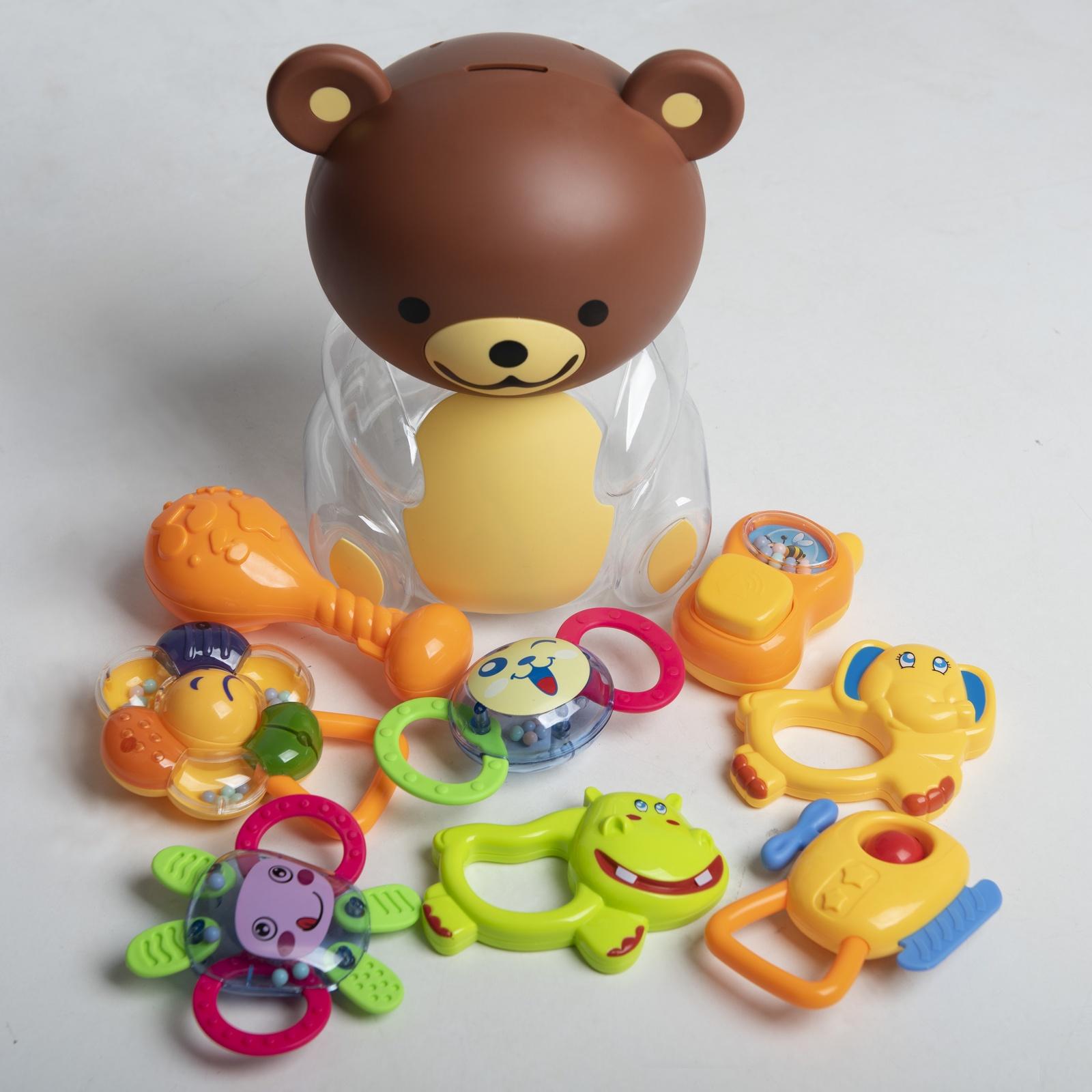"""Прорезыватель Huanger """"Медведь"""" голубой, желтый, зеленый, коричневый, красный, оранжевый, прозрачный, розовый, светло-зеленый, синий"""
