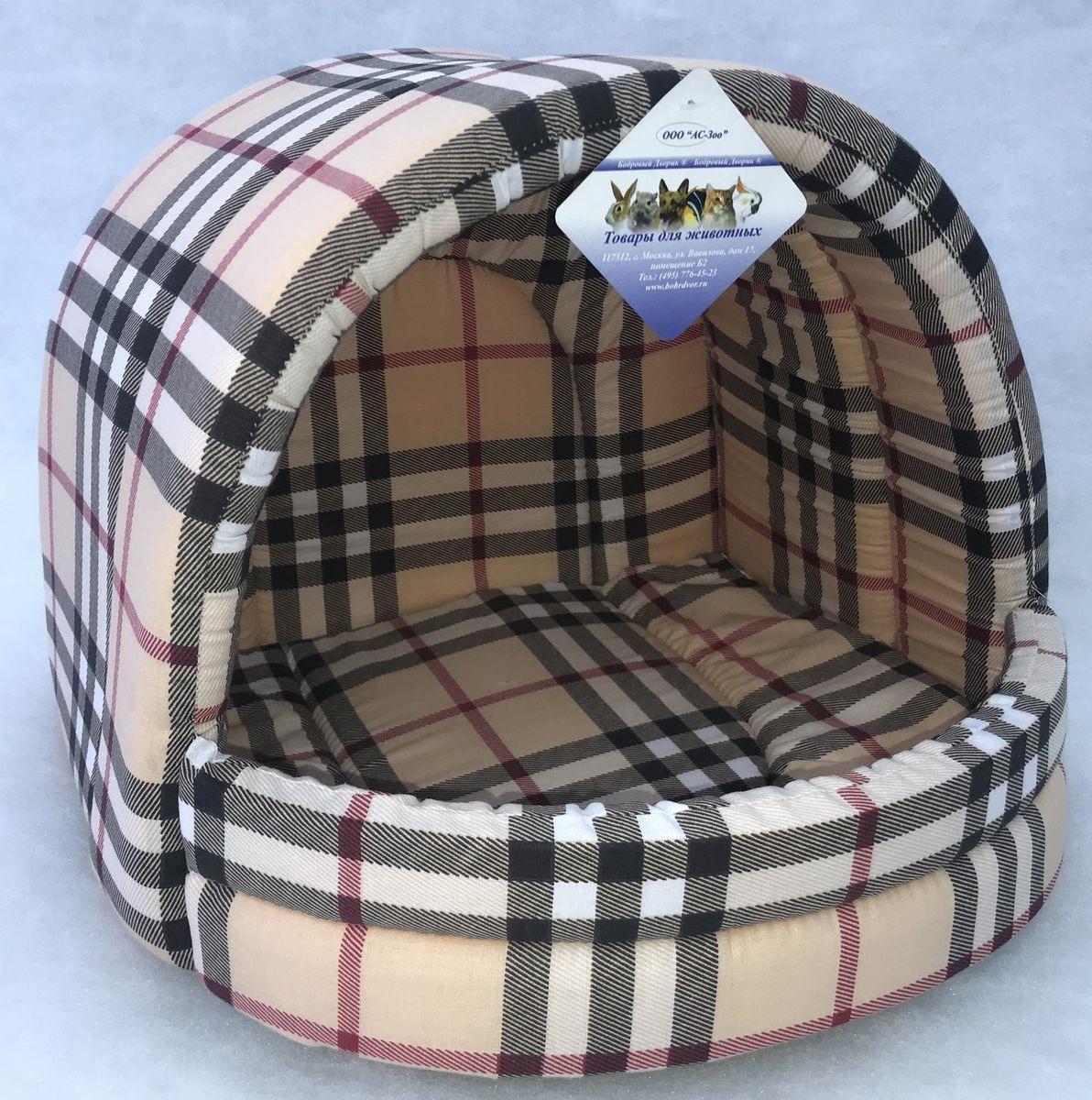 Домик для животных Бобровый дворик Эстрада №2. Шотландка, 82809, светло-бежевый eglo 82809