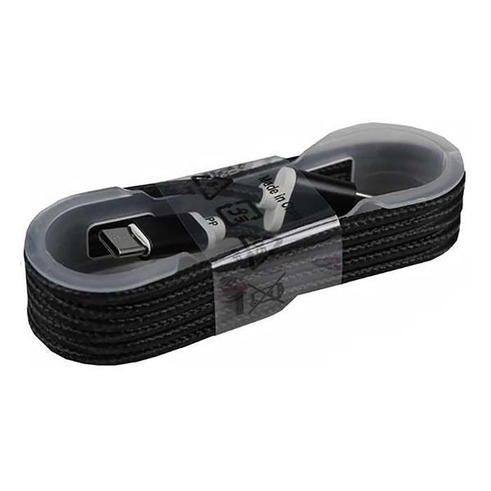 Кабель USB2.0 - Type-C в нейлоновой оплетке, черный, Mobiledata кабель mobiledata usb usb type c 1 5 м нейлоновая оплётка белый