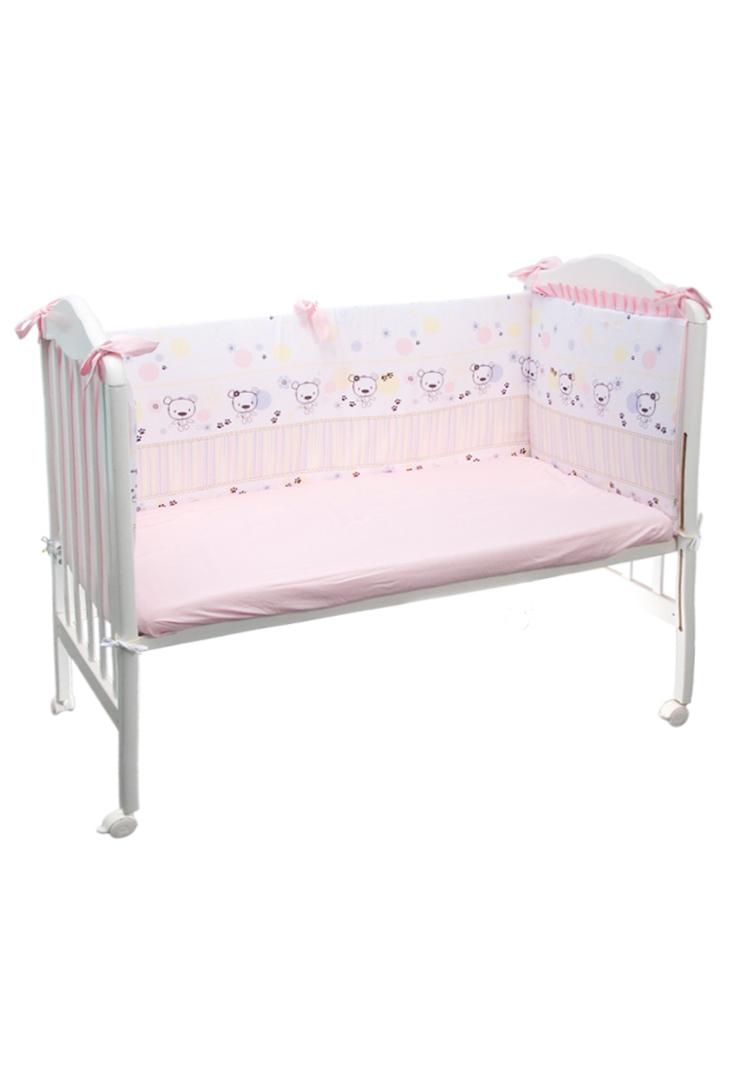 Бортик для кроватки Сонный гномик Конфетти, 114_2, розовый