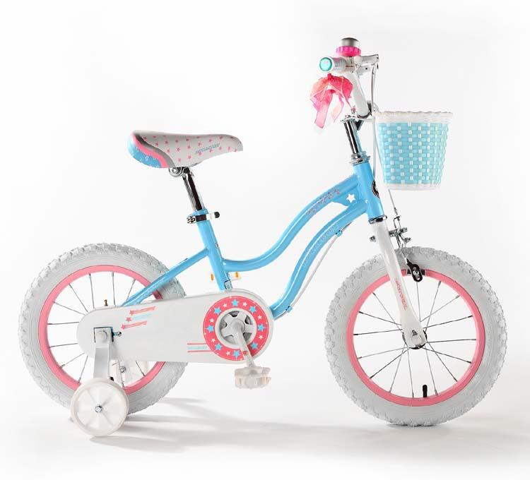 Велосипед Royal Baby Stargirl Steel 14, RB14G-1, голубой, розовый