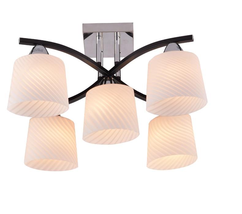 Потолочный светильник Shatten Cветильник потолочный ALLEN E14 5x60W 220V черный/хром, E14, 60 Вт