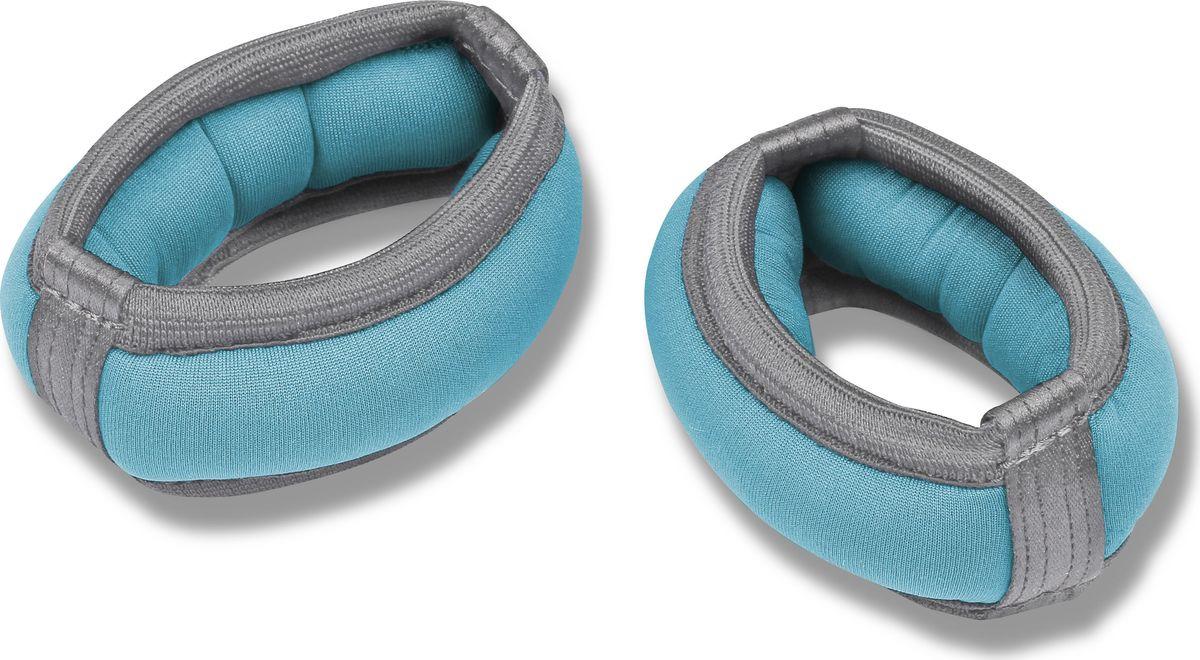 Утяжелители-браслет Indigo SM-256, 00026190, голубой, 2 х 0,2 кг цена