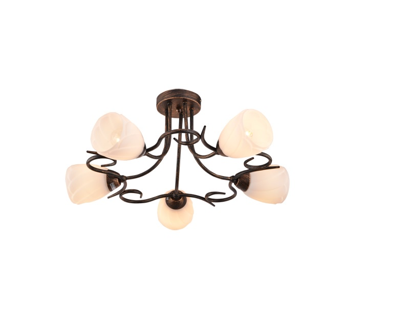Декоративный светильник Shatten Cветильник потолочный MARITA E27 , 1018.104.05, белый, золотой