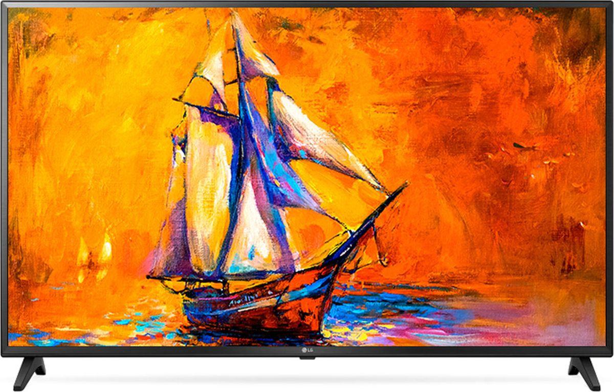 Телевизор LG 49UK6200PLA 49, черный 4k uhd телевизор lg 55 uj 651 v