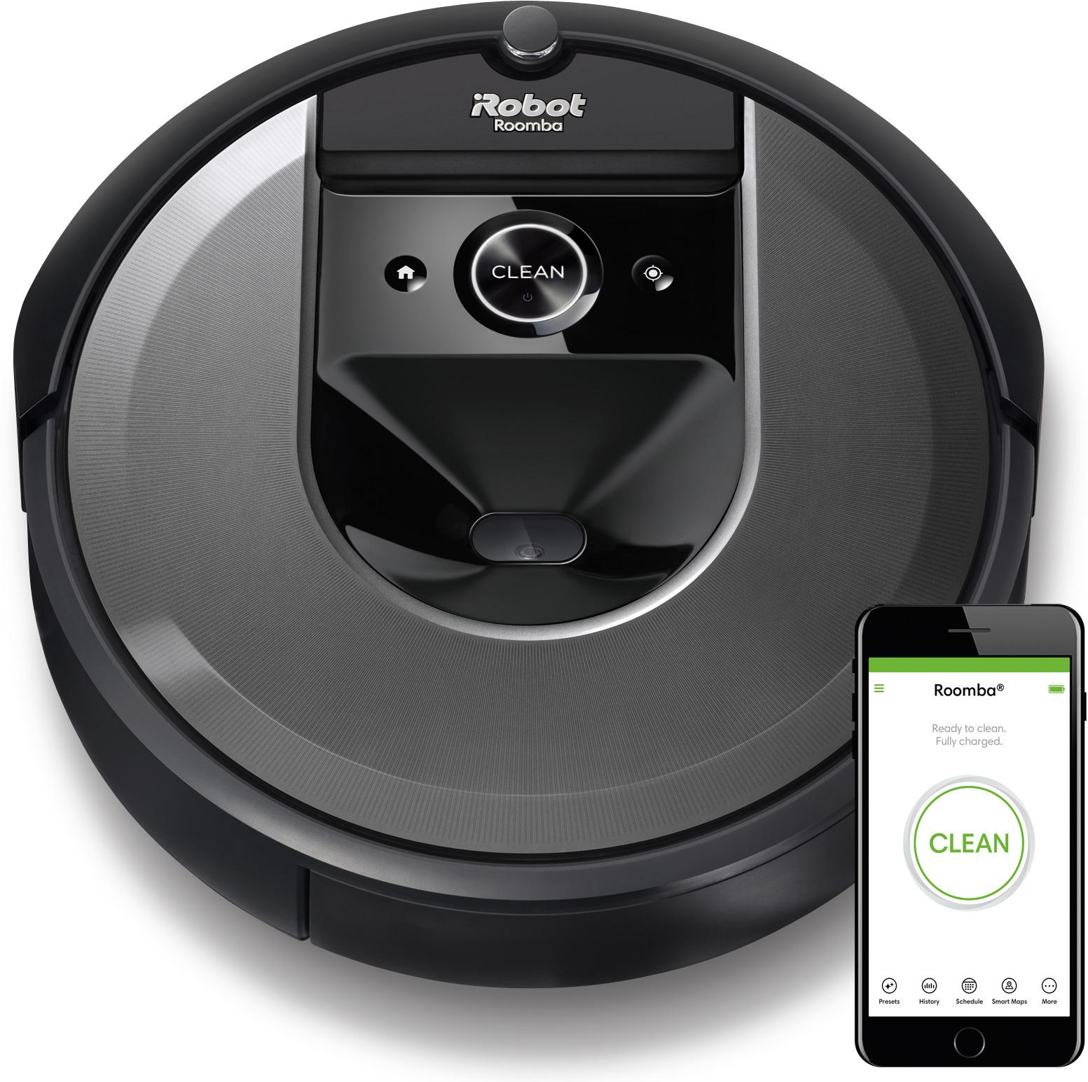 Робот-пылесос iRobot Roomba i7, i715840RND, серый, черный