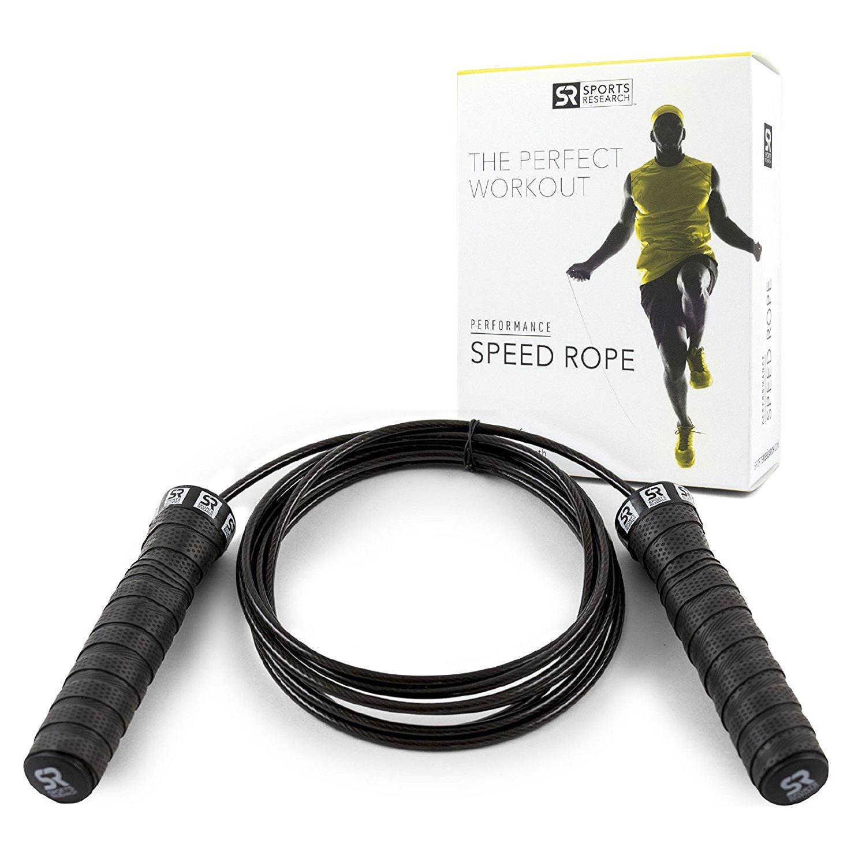 Скакалка Sweet Sweat скоростная, черный для похудения 1 кардио 2 силовые