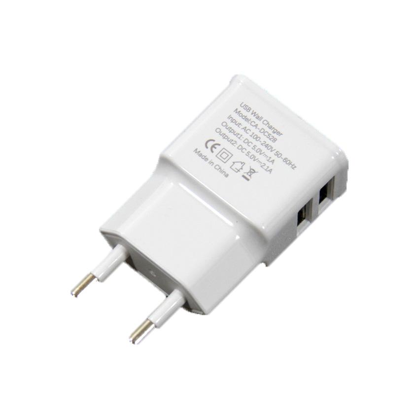 Зарядное устройство VCOM AC EU Plug 100-220V →USBx2 Port Out.: DC5V, 2, 1A 1.0A DC528 CA-DC528, CA-DC528