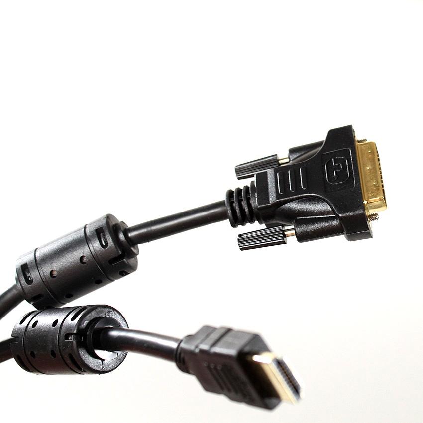 цена на Кабель TELECOM HDMI to DVI-D Dual Link 19M -25M 5м, 2 фильтра, CG481F-5M, CG481F-5M