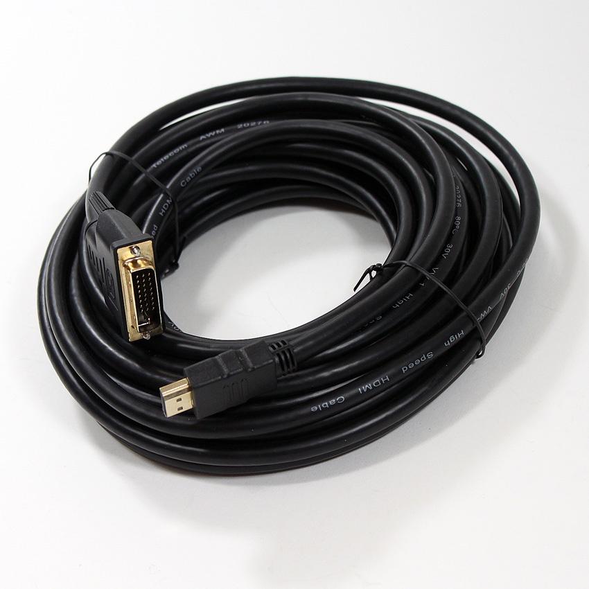 Кабель TELECOM HDMI to DVI-D Dual Link 19M -25M 10м, CG481G-10M, CG481G-10M