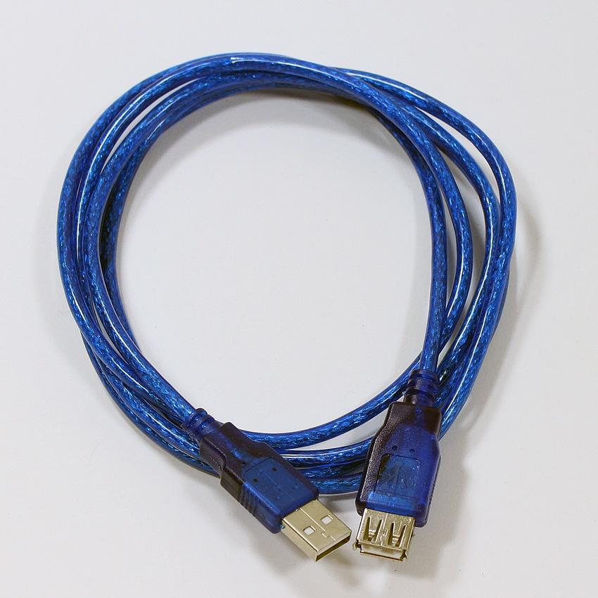 Кабель TELECOM USB2.0 AM-AF, VUS6956T-1.8MTBO, синий цена