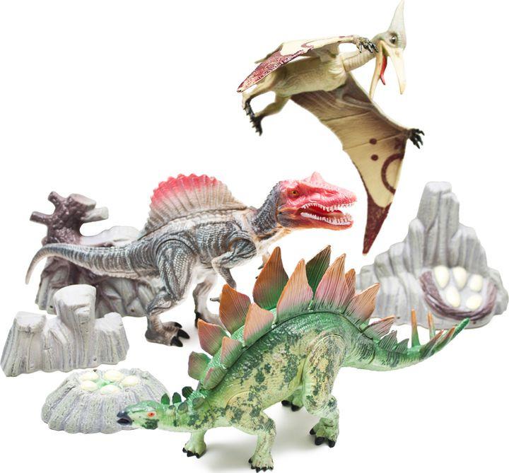 Набор фигурок Phantom Cretaceous, FL6023534, 3 шт игровые фигурки happy kin набор динозавров 41093