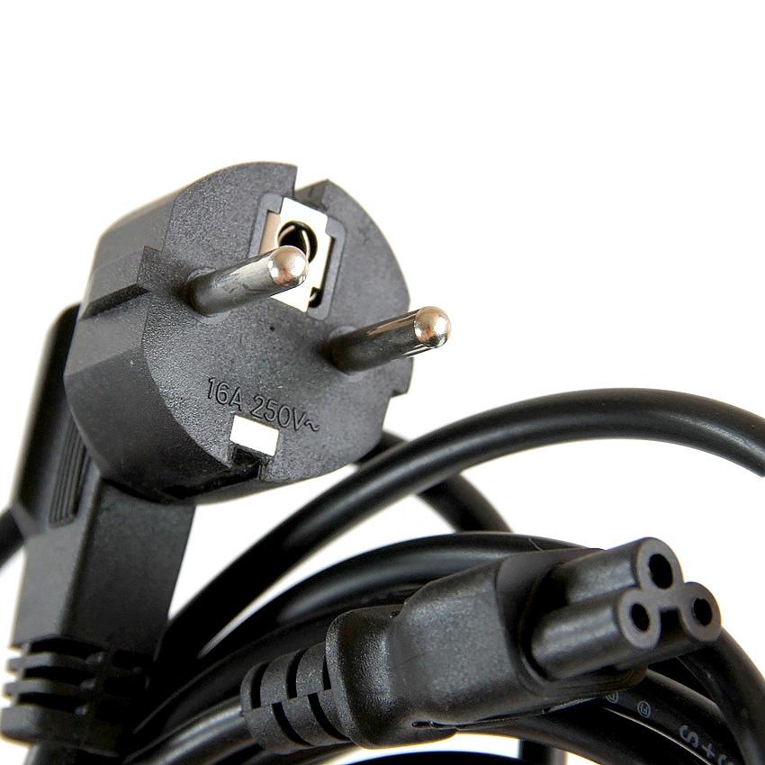 Кабель VCOM VDE, CE022-CU0.5-1.8M, черный кабель питания для ноутбуков 3 0м vcom telecom ce022 cu0 5 3m