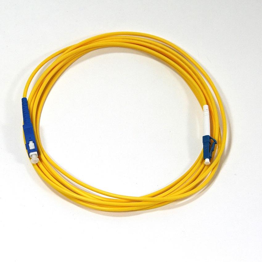 Кабель VCOM LC-SC, UPC, Simplex, VSU302-3M оптический шнур vcom lc fc upc одномодовый simplex vsu301 1m