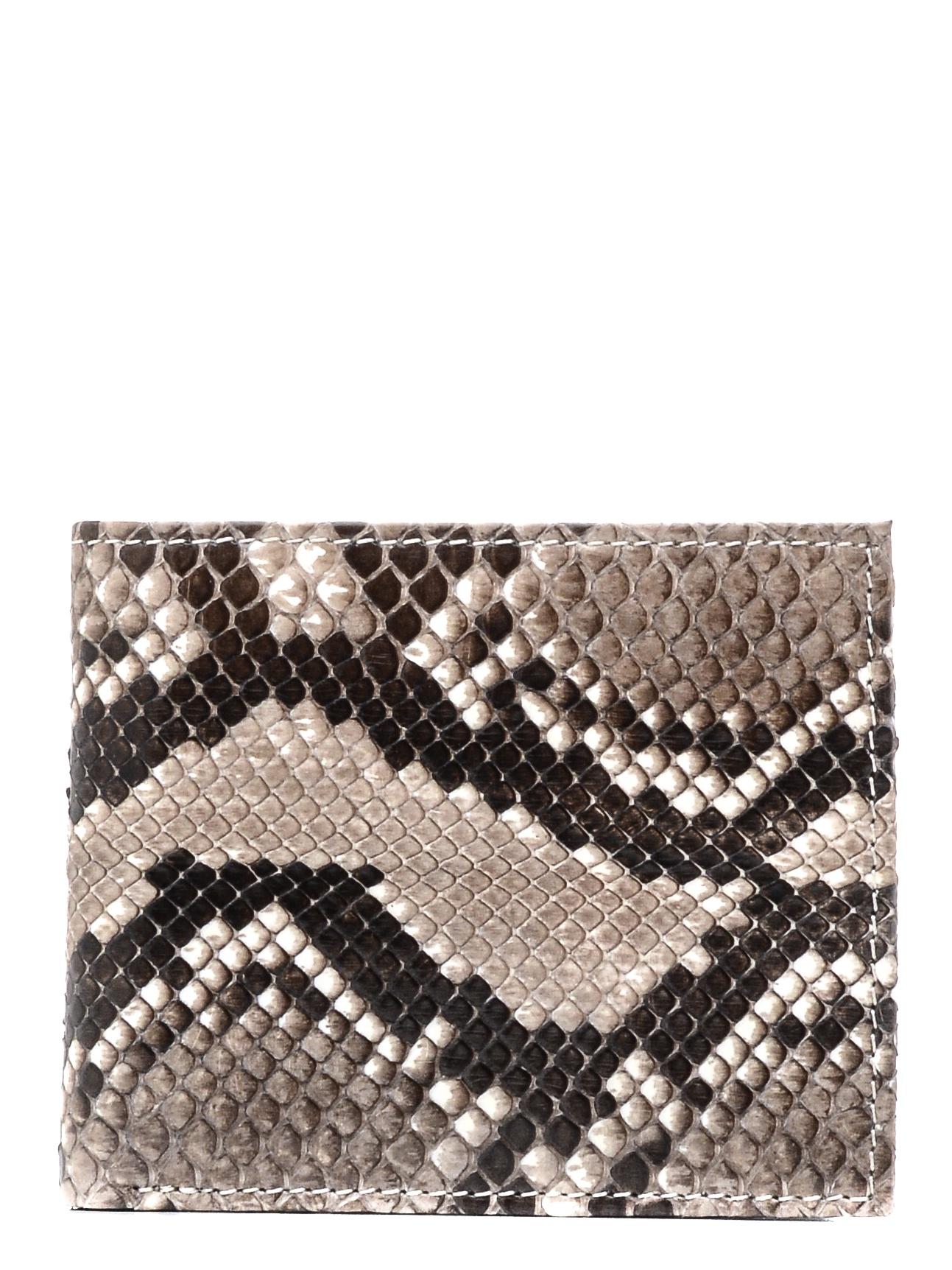 Кошелек ExoticLux из кожи питона, серый цены онлайн