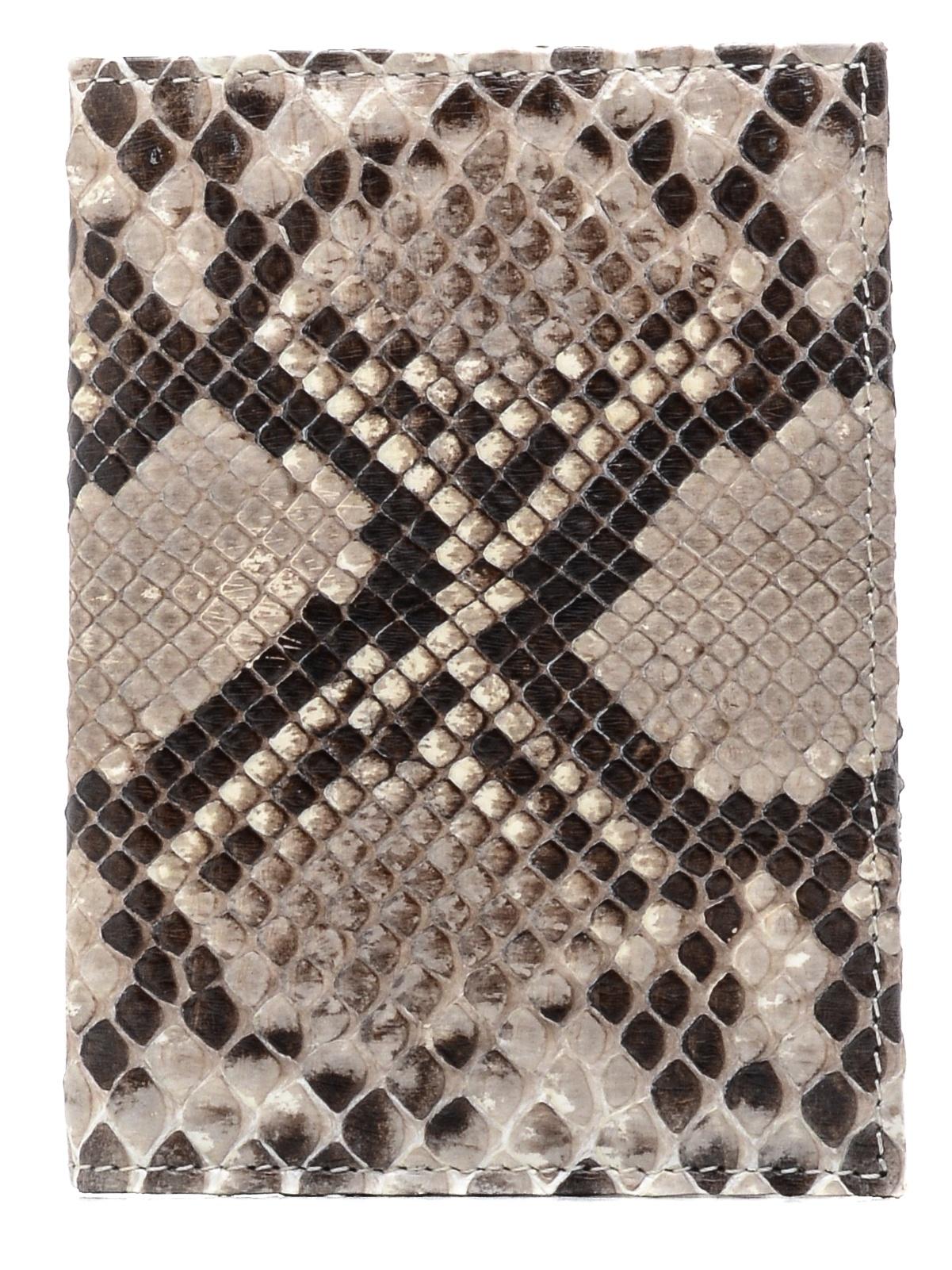 Обложка для паспорта ExoticLux из кожи питона, серый цены онлайн