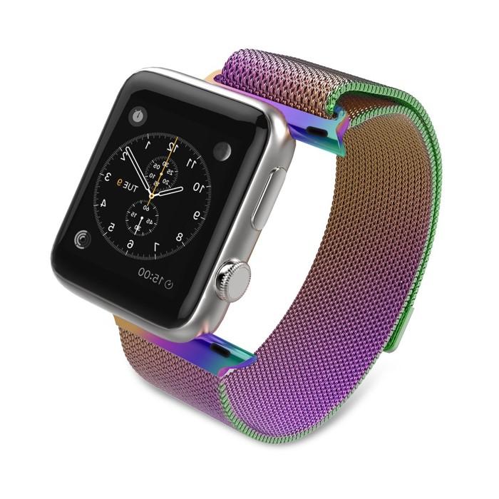 Ремешок для смарт-часов ZUP Миланский браслет для Apple Watch 42mm/44mm, фиолетовый, синий, зеленый, золотой chkj зеленый смарт браслет