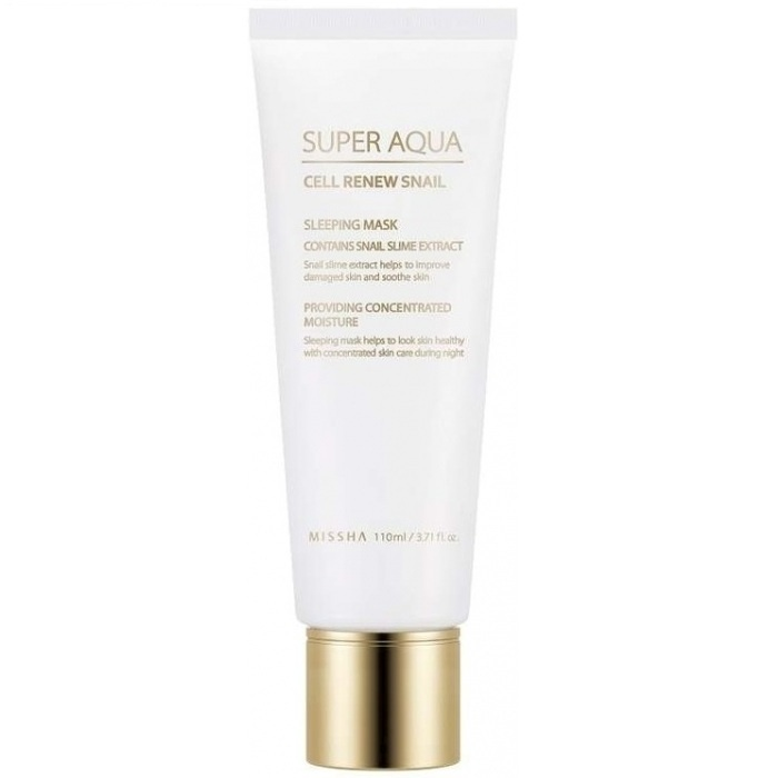 Маска косметическая Missha Super Aqua Cell Renew Snail Sleeping Mask missha bb 50ml