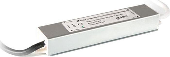 Блок питания Gauss для светодиодной ленты пылевлагозащищенный, 202023015, 15W, 12V, IP66, 1/100 блок питания для светодиодной ленты gauss 202003040
