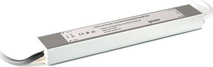 Блок питания Gauss для светодиодной ленты пылевлагозащищенный, 202023030, 30W, 12V, IP66, 1/50 блок питания для светодиодной ленты gauss 202003040