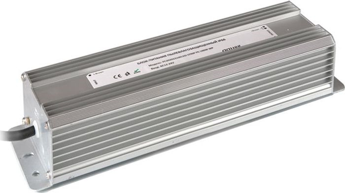 Блок питания Gauss для светодиодной ленты пылевлагозащищенный, 202023150, 150W, 12V, IP66, 1/15 блок питания для светодиодной ленты gauss 202003040