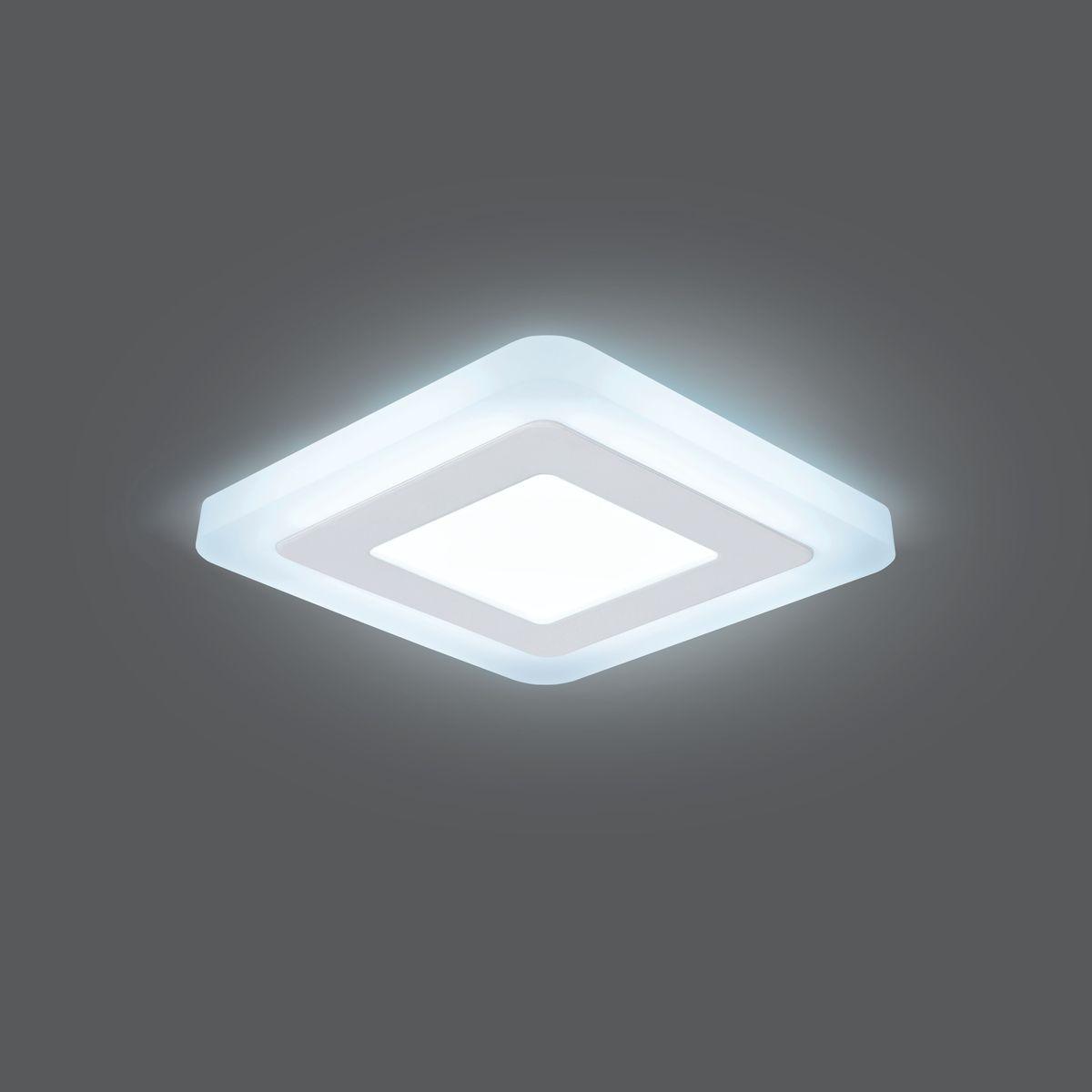 Светильник Gauss Backlight LED, BL121, 3+3W, 4000K, 350Лм, 1/40 gauss встраиваемый светильник gauss backlight bl135 кругл узор черный gu5 3 3w led 4000k 1 40 bl135