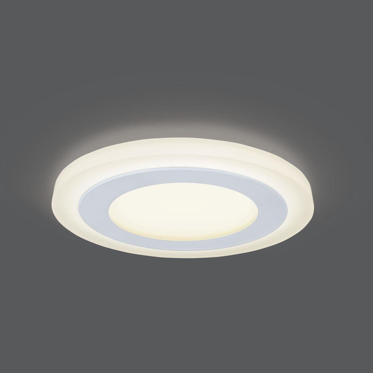 Встраиваемый светильник Gauss LED 6+3W, 3000K, 540Лм, 1/40, 9 Вт светильники для сада led