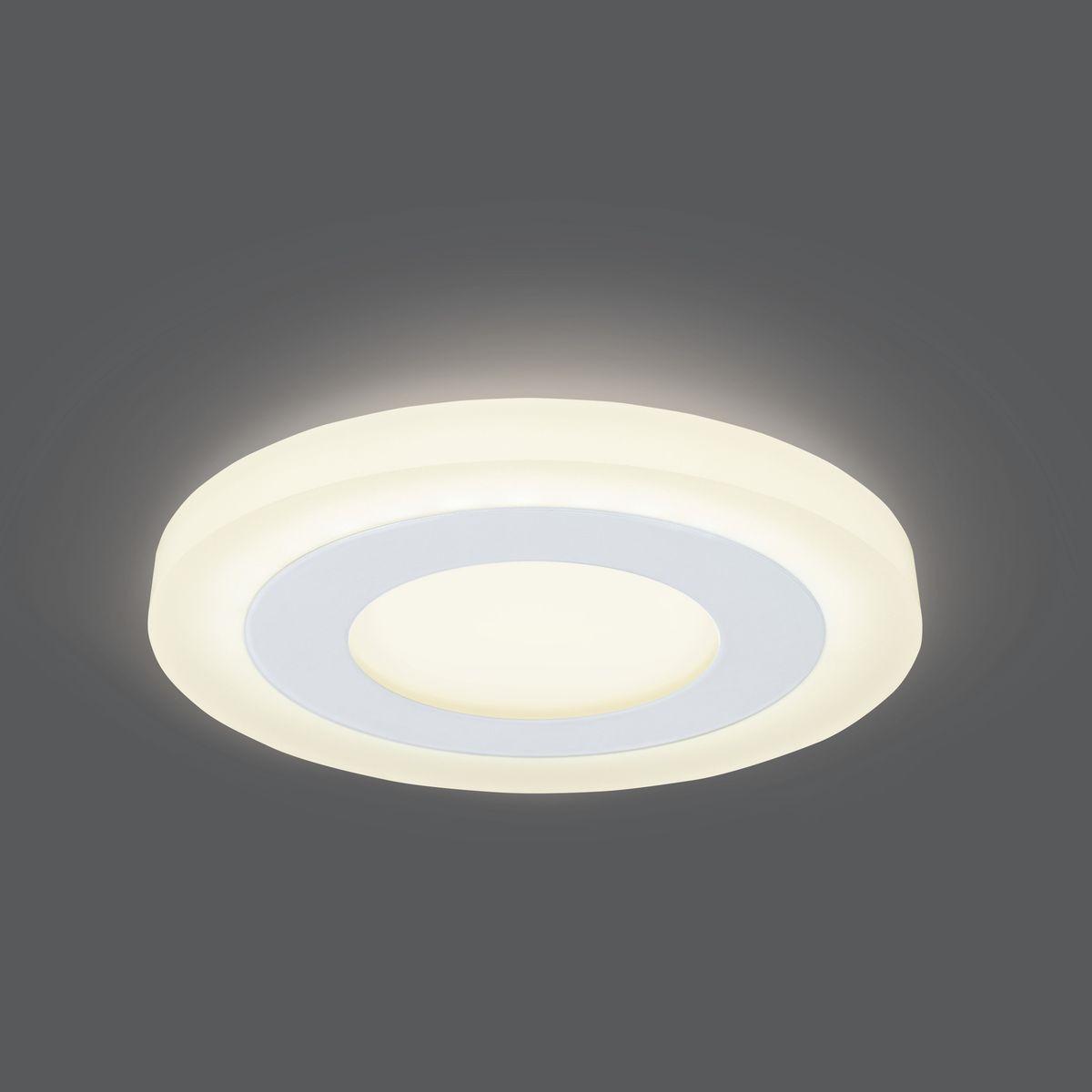 Светильник Gauss Backlight LED, BL114, 3+3W, 3000K, 350Лм, 1/40 gauss встраиваемый светильник gauss backlight bl135 кругл узор черный gu5 3 3w led 4000k 1 40 bl135