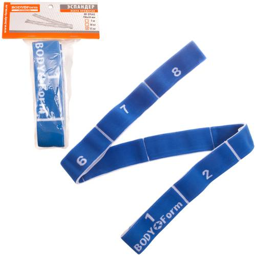Эспандер BodyForm BF-EPL02, BF-EPL02-03, синий эспандер bodyform bf epl02 bf epl02 03 синий