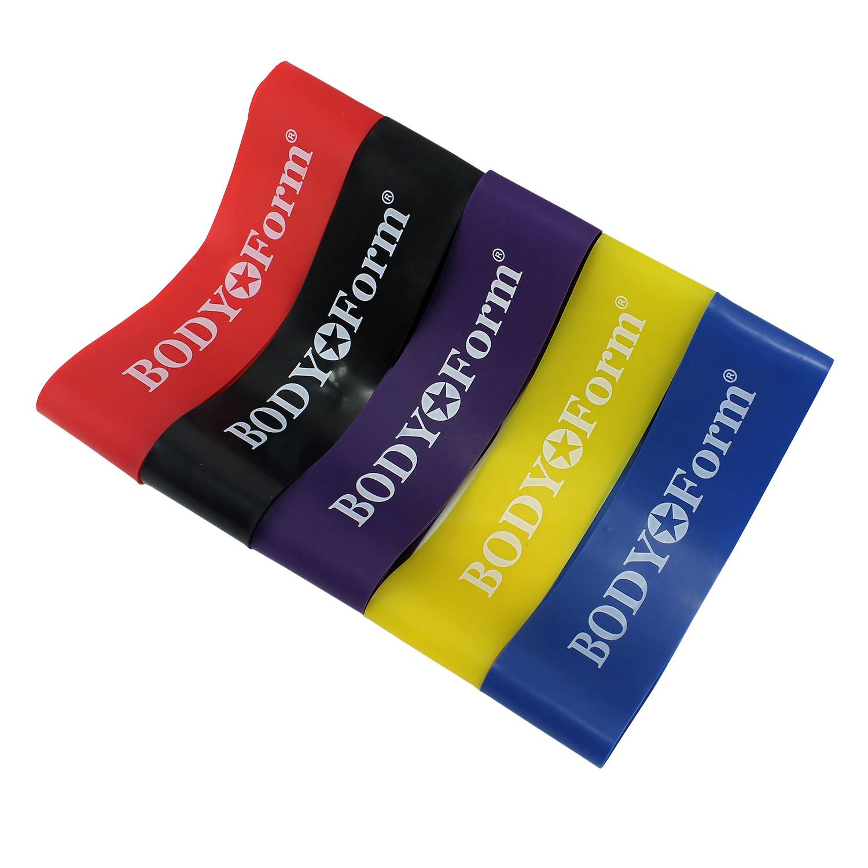 Эспандер BodyForm BF-RL-SET4, черный, красный, фиолетовый, желтый, синийBF-RL-SET4-01Набор универсальных эспандеров, используемого в специальных упражнениях для тренировки различных групп мышц. Материал: латекс Размеры: BF-RL100 4кг/60см.- 1шт. BF-RL100 9кг/60см.- 1шт. BF-RL100 14кг/60см.- 1шт. BF-RL100 18кг/60см.- 1шт. BF-RL100 22кг/60см.- 1шт. Упаковка: сумка.