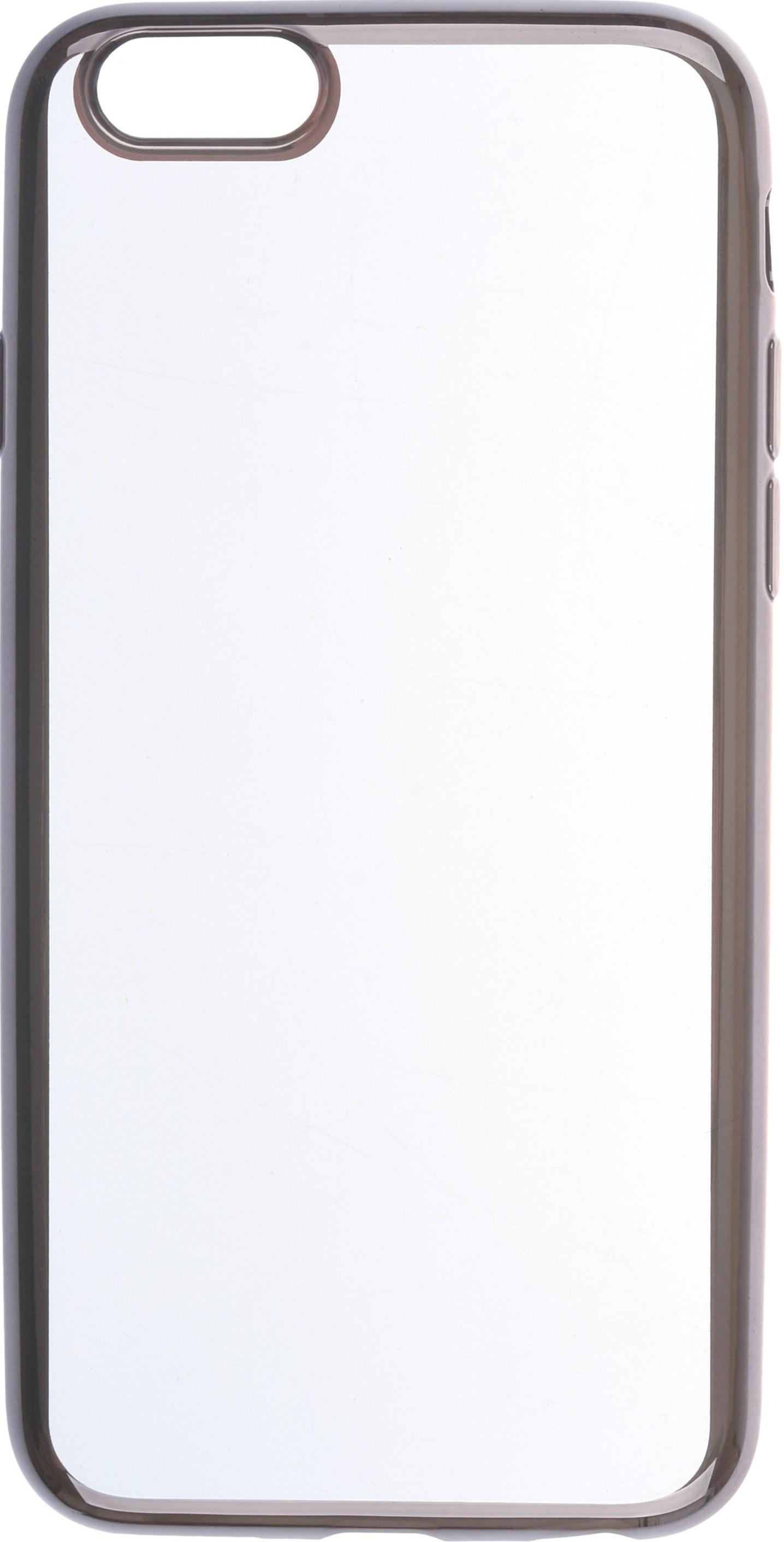 все цены на Чехол для сотового телефона skinBOX Silicone chrome border, 4630042520875, черный онлайн