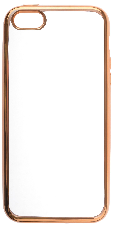 Чехол для сотового телефона skinBOX Silicone chrome border, 4660041407822, золотой аксессуар чехол накладка innovation silicone 0 33mm для apple iphone 5 5s transparent 12001