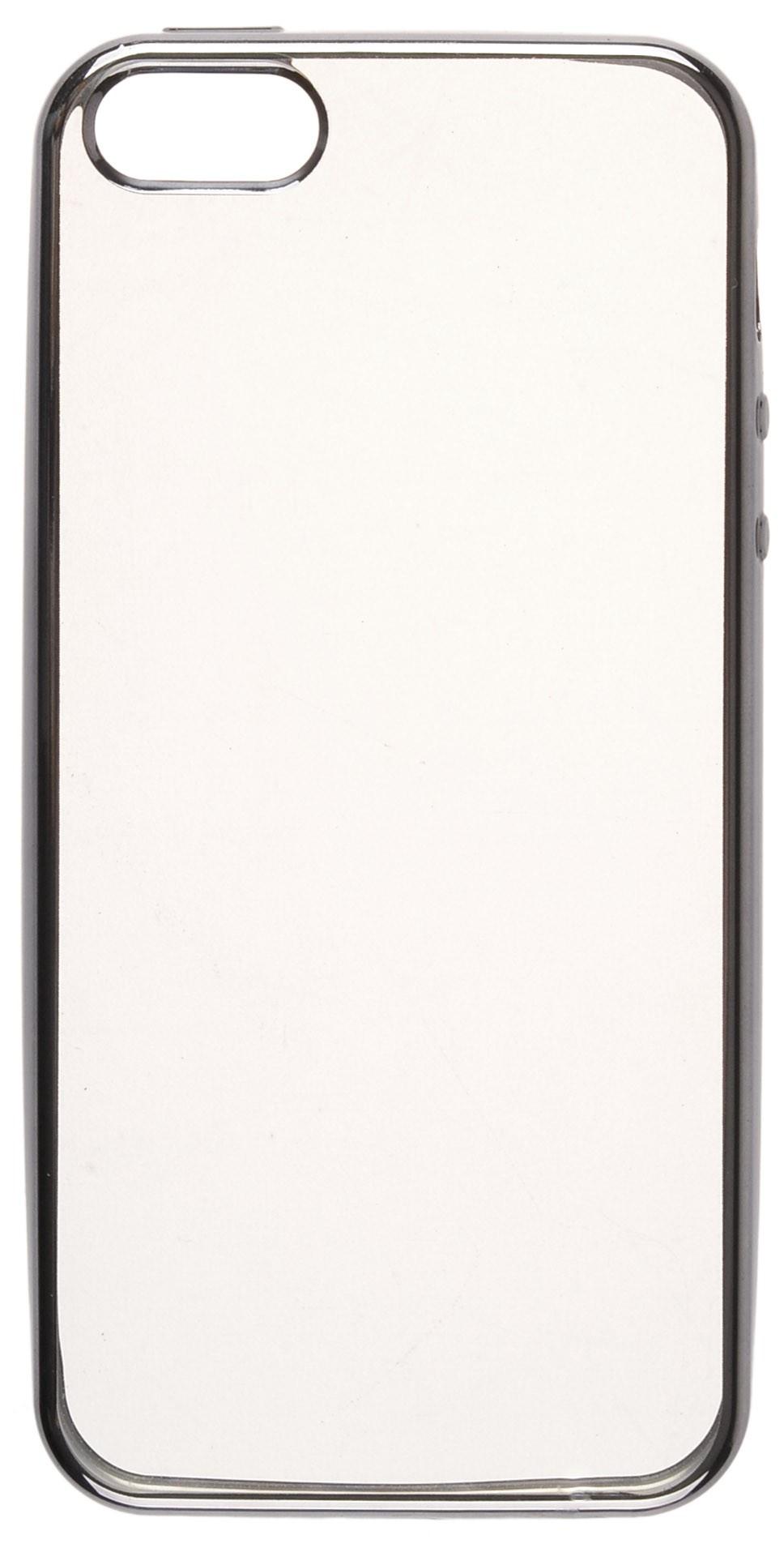 все цены на Чехол для сотового телефона skinBOX Silicone chrome border, 4660041407648, черный онлайн