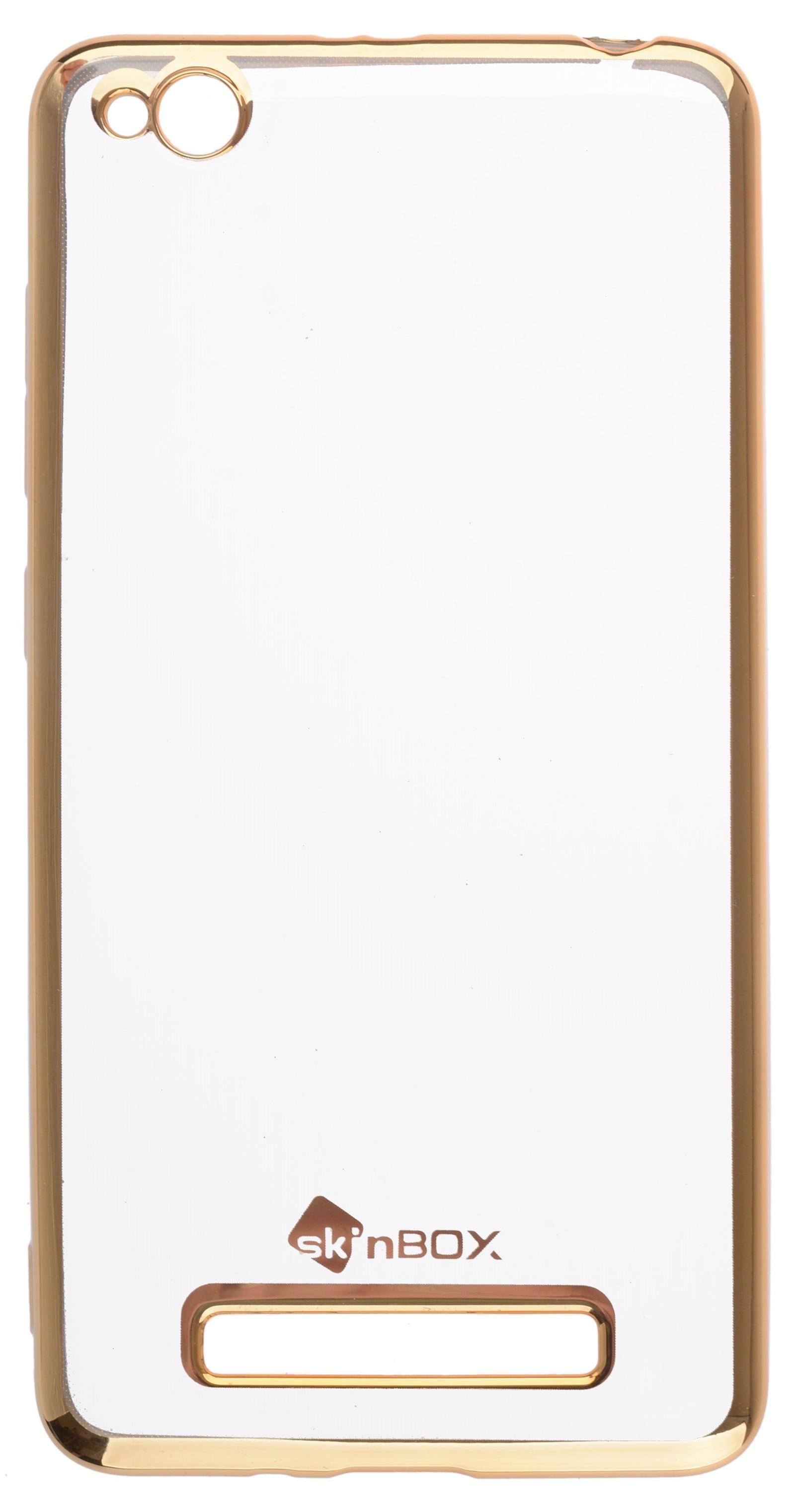 Чехол для сотового телефона skinBOX Silicone chrome border, 4660041408355, золотой skinbox silicone chrome border 4people чехол для xiaomi redmi 4 silver